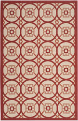 Safavieh Courtyard Cy7476 Beige - Red Area Rug