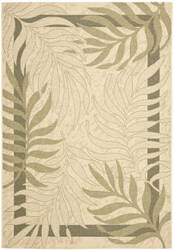 Safavieh Courtyard Cy7836-14a5 Cream / Green Area Rug