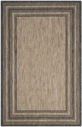 Safavieh Courtyard Cy8475 Natural - Black Area Rug
