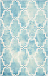 Safavieh Dip Dye Ddy536d Turquoise - Ivory Area Rug
