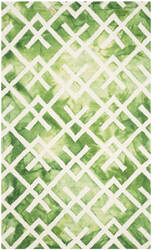 Safavieh Dip Dyed Ddy677q Green - Ivory Area Rug