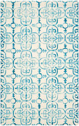 Safavieh Dip Dye Ddy711h Ivory - Turquoise Area Rug