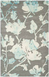 Safavieh Dip Dyed Ddy716l Grey - Turquoise Area Rug