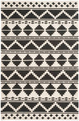 Safavieh Dhurries Dhu110a Black - Ivory Area Rug