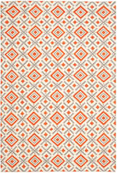 Safavieh Dhurries Dhu116a Ivory - Tangerine Area Rug