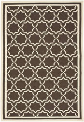 Safavieh Dhurries Dhu545a Chocolate / Ivory Area Rug