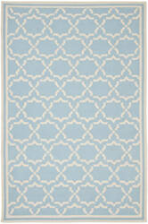 Safavieh Dhurries Dhu545b Light Blue / Ivory Area Rug
