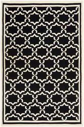 Safavieh Dhurries DHU545L Black / Ivory Area Rug