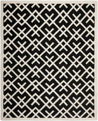 Safavieh Dhurries DHU552L Black / Ivory Area Rug