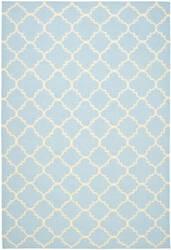 Safavieh Dhurries Dhu554b Light Blue / Ivory Area Rug