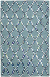 Safavieh Dhurries DHU564B Light Blue / Ivory Area Rug