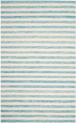 Safavieh Dhurries Dhu575c Aqua - Ivory Area Rug