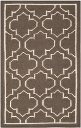 Safavieh Dhurries Dhu625c Brown / Ivory Area Rug