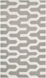 Safavieh Dhurries Dhu630a Silver / Ivory Area Rug
