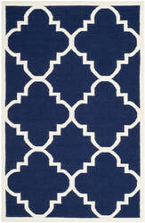 Safavieh Dhurries DHU633D Navy / Ivory Area Rug