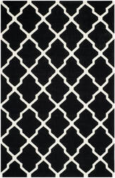 Safavieh Dhurries DHU634A Black / Ivory Area Rug