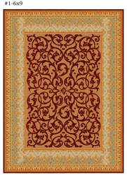 Safavieh Empire EM425A Brown / Blue Area Rug