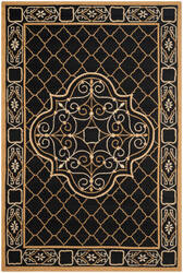 Safavieh Durarug Ezc729d Black - Gold Area Rug