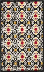 Safavieh Four Seasons Frs417a Black / Ivory Area Rug