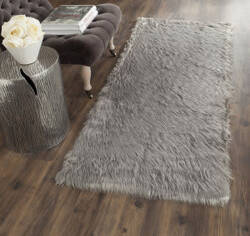 Safavieh Faux Sheep Skin Fss235d Grey Area Rug