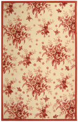 Rugstudio Sample Sale 49938R Ivory / Rose Area Rug