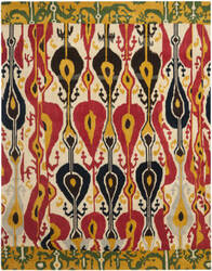 Safavieh Ikat IKT222A Cream / Green Area Rug