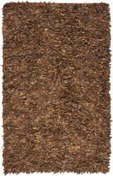 Safavieh Leather Shag Lsg511b Saddle Area Rug