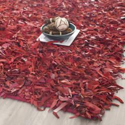 Safavieh Leather Shag Lsg511d Red Area Rug