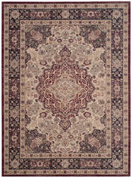 Safavieh Lavar Kerman Lvk637a Cream - Navy Area Rug