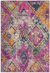 Safavieh Madison Mad125f Fuchsia - Blue Area Rug
