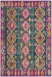 Safavieh Madison Mad129f Fuchsia - Blue Area Rug