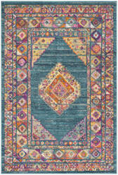 Safavieh Madison Mad133a Light Blue - Orange Area Rug
