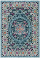 Safavieh Madison Mad306m Light Blue - Fuchsia Area Rug