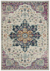 Safavieh Madison Mad921r Ivory - Fuchsia Area Rug