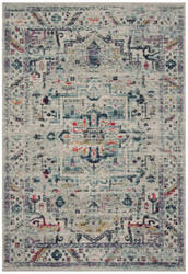 Safavieh Madison Mad929f Light Grey - Fuchsia Area Rug