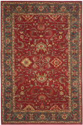 Safavieh Mahal Mah693f Red - Navy Area Rug