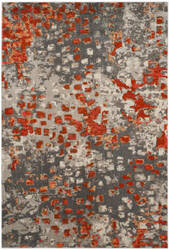 Safavieh Monaco Mnc225h Grey - Orange Area Rug