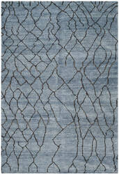 Safavieh Moroccan Mor555b Blue / Black Area Rug