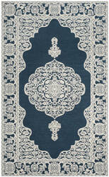 Safavieh Marbella Mrb615d Dark Blue - Ivory Area Rug