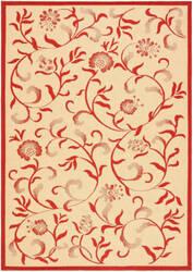 Safavieh Martha Stewart Msr4251 Creme - Red Area Rug