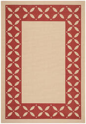 Safavieh Martha Stewart Msr4257 Creme / Red Area Rug
