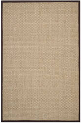 Safavieh Natural Fiber Nf114k Natural / Dark Brown Area Rug