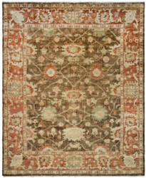 Safavieh Oushak OSH115A Brown / Rust Area Rug
