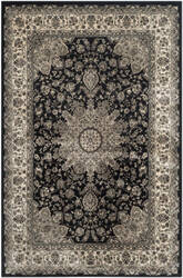Safavieh Persian Garden Peg605b Black - Ivory Area Rug