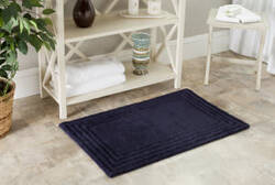Safavieh Plush Master Bath PMB631B Navy / Navy Area Rug