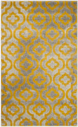 Safavieh Porcello Prl7734 Light Grey - Yellow Area Rug