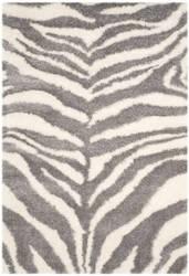 Safavieh Portofino Shag Pts215a Ivory - Grey Area Rug