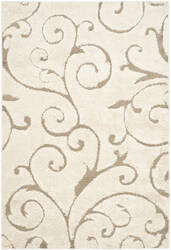 Safavieh Florida Shag Sg455 Cream - Beige Area Rug