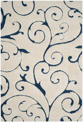 Safavieh Florida Shag Sg455 Cream - Blue Area Rug