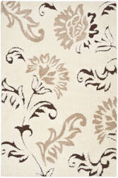 Safavieh Florida Shag Sg463 Cream / Dark Brown Area Rug
